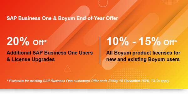 sap business one boyum end of year offer 2020
