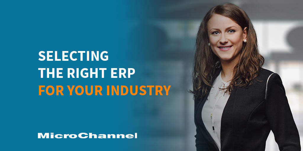 selecting the right erp for your industry