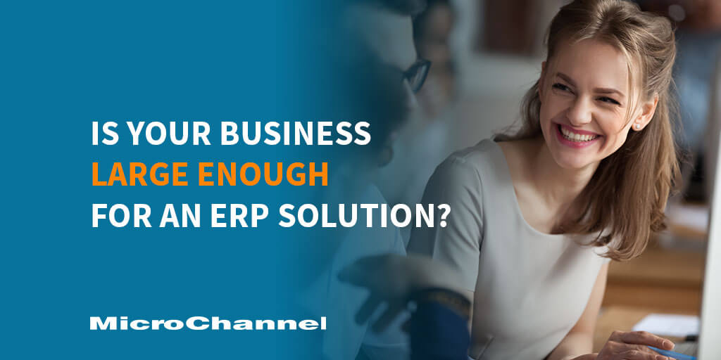 is your business large enough for an erp solution