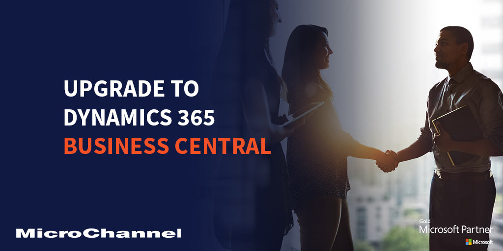 upgrading to dynamics 365 business central