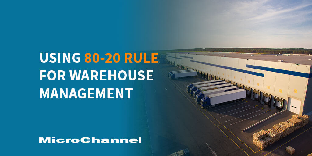 80-20 rule for warehouse management