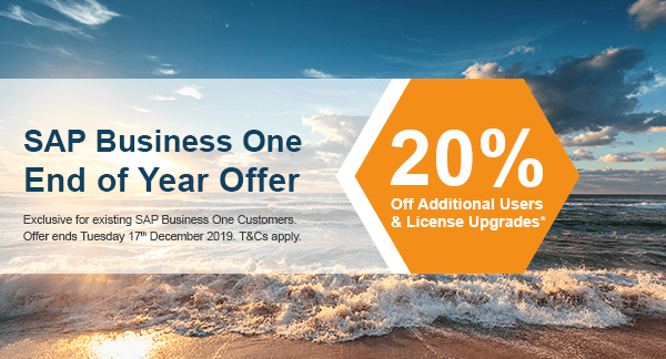 sap business one end of year promotion 2019